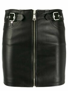 Manokhi zip-up short skirt - Black