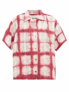 Story Mfg. - Bowling Moon Tie-dye Organic-cotton Shirt - Womens - Pink White