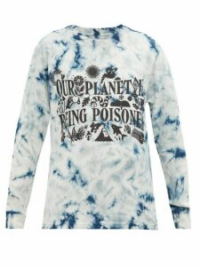 Story Mfg. - Grateful Tie-dye Organic-cotton T-shirt - Womens - Blue White