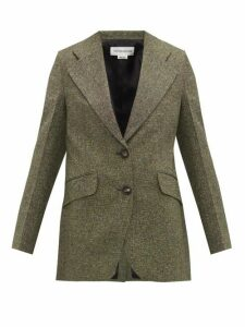 Victoria Beckham - Jarvis Single-breasted Tweed Jacket - Womens - Green Multi