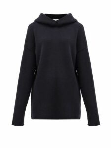 Raey - Oversized Knitted Cashmere Hooded Sweatshirt - Womens - Navy