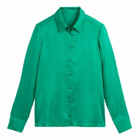 Satin-Effect Straight Shirt