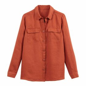 Linen Straight Long-Sleeved Shirt
