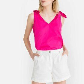 Tie-Shoulder Cotton Cami