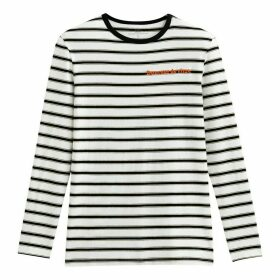 Cotton Crew-Neck T-Shirt with Long Sleeves