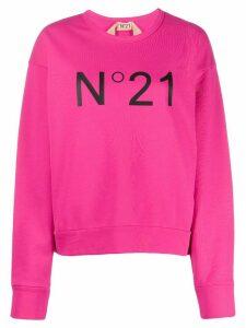 Nº21 logo printed sweatshirt - PINK