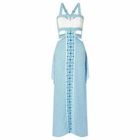 Aya Silk Aquamarine Silk Crepe Dress