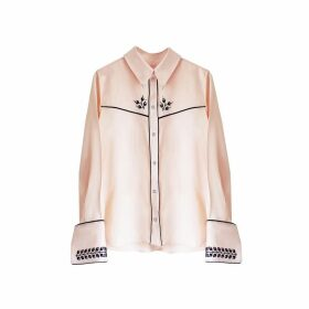 Florence Bridge Embroidered Cowboy Shirt (pale Peach)