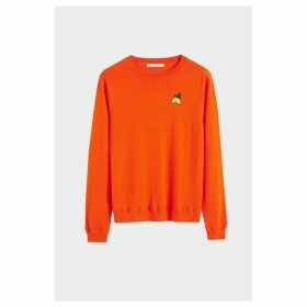 Chinti & Parker Orange Lemon Badge Cashmere Sweater