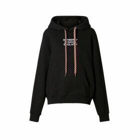 Burberry Embroidered Logo Cotton Oversized Hoodie
