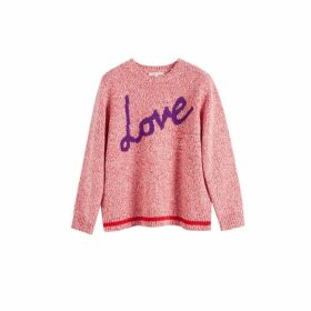 Chinti & Parker Pink Dalloway Love Merino Wool Sweater