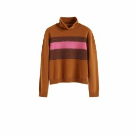 Chinti & Parker Ginger Alpaca Striped Merino-cashmere Sweater