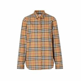 Burberry Vintage Check Cotton Oversized Shirt