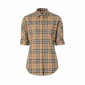 Burberry Vintage Check Stretch Cotton Twill Shirt