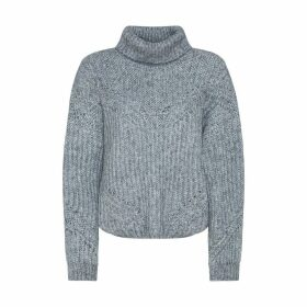 Chunky Knit Jumper with Roll Neck