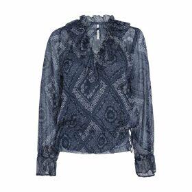 Paisley Print Boho Shirt with Long Sleeves