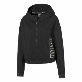 Cotton Mix Hooded Track Top with Side Logo