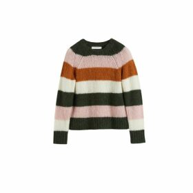 Chinti & Parker Pink Striped Alpaca-merino Sweater