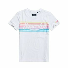 Cotton Rainbow Logo T-Shirt with Short Sleeves