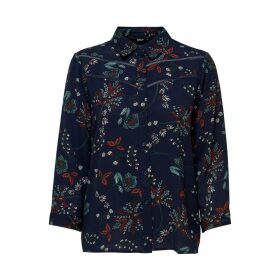 Floral Print Shirt with 3/4 Length Sleeves
