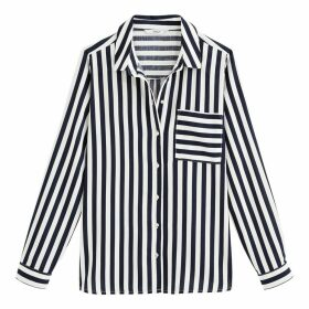 Striped Shirt with Long Sleeves and Pocket