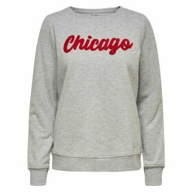 Chicago Slogan Jumper in Cotton Mix