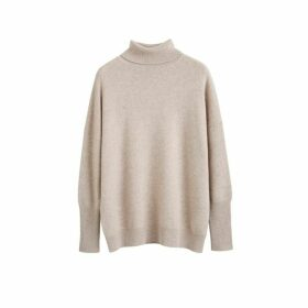 Chinti & Parker Oatmeal Cashmere Rollneck Sweater