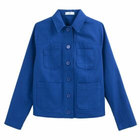 Short Cotton Utility Jacket with Pockets