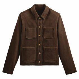 Corduroy Utility Jacket with Pockets