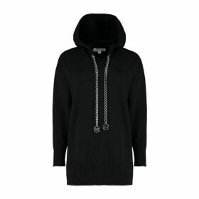MICHAEL Michael Kors Logo Chain Stretch-cotton Hoodie