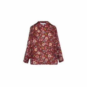 Gerard Darel Oversized Floral Print Mathis Blouse