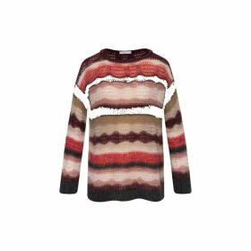 Gerard Darel Striped Mohair Stuart Sweater