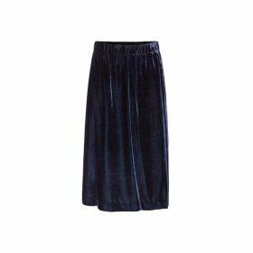 Gerard Darel Mid-calf Length Velvet Panelled Tally Skirt