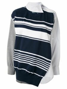 Kolor asymmetric deconstructed jumper - Blue