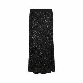 Gerard Darel Long Teissa Skirt With Sequins