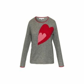 Gerard Darel Cashmere Scarlett Sweater With Heart