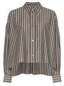 Isabel Marant Macao striped boxy-fit shirt - Grey