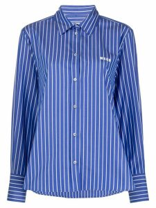 MSGM striped shirt - Blue