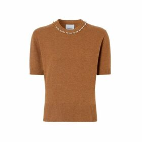 Burberry Embellished Cashmere Top