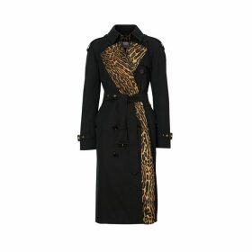 Burberry Leopard Print-lined Cotton Gabardine Trench Coat
