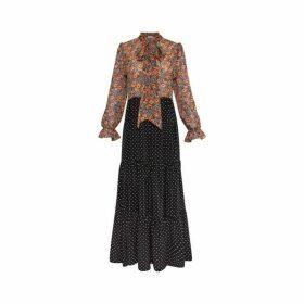 Gerard Darel Long Mixed Print Dayana Dress