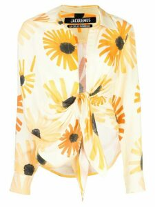 Jacquemus sunflower print long-sleeved shirt - Yellow