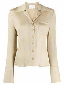 Nanushka Sid retro fitted shirt - NEUTRALS