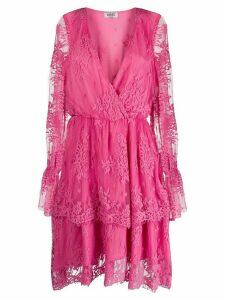 LIU JO lace-embroidered shift dress - PINK