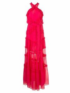 Alexis Lorinda ruffle-trimmed chiffon gown - PINK