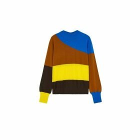 Chinti & Parker Brown Curve Wool-cashmere Sweater