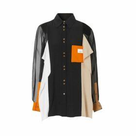 Burberry Colour Block Silk Shirt