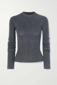 Lanvin - Metallic Ribbed-knit Sweater - Gray