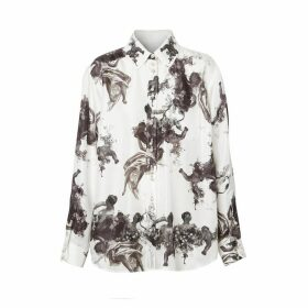 Burberry Angel Print Silk Twill Shirt