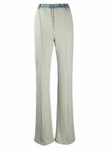 UNRAVEL PROJECT long high-waisted trousers - Grey